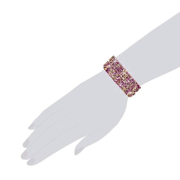 Bransoletka Pink Shine, 38 cm
