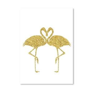 Plakat Americanflat Flamingos Couple, 30x42 cm