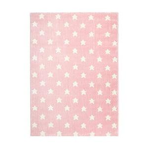 Różowy dywan dziecięcy Happy Rugs Stardust, 80x150 cm