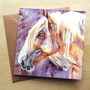 Kartka okolicznościowa Wraptious Purple Light Horse