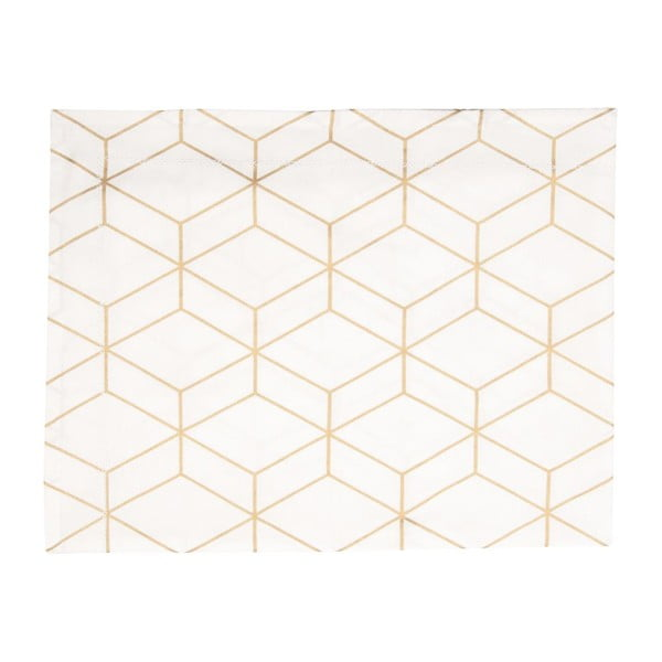 Obrus Hexagon White, 140x220 cm