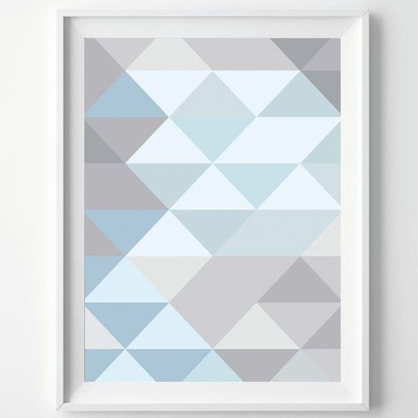 Plakat Monochrome Blue, A3