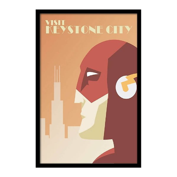 Plakat Visit Keystone City, 35x30 cm