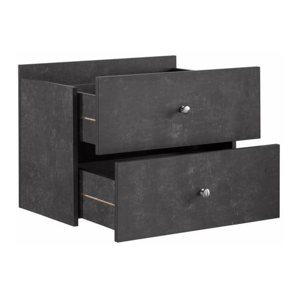 Szare 2 dodatkowe szuflady do regału Støraa Versaille