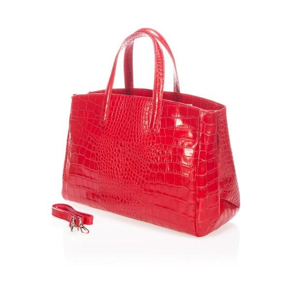 Skórzana torebka Magnata, czerwona