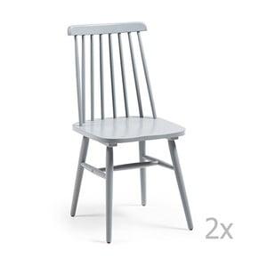 Zestaw 2 jasnoszarych krzeseł La Forma Kristie