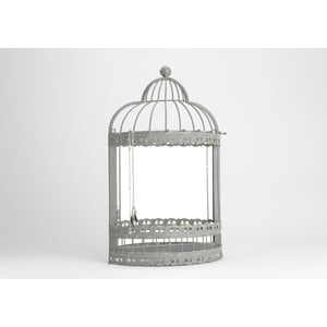 Lustro ze szkatułką na biżuterię Cage, 42x120 cm