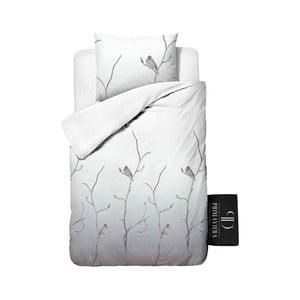 Pościel z diagonalu Dreamhouse Bird Tree White, 140x220cm