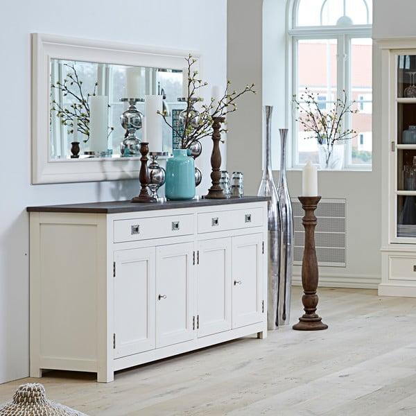 Czterodrzwiowa biała komoda Canett Skagen Sideboard, 2 szuflady