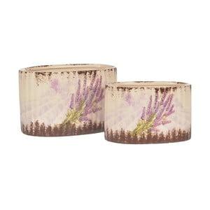 Zestaw 2 ceramicznych doniczek Lavender