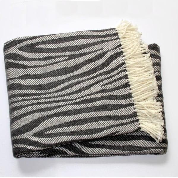 Koc Zebra Dark Grey, 140x180 cm