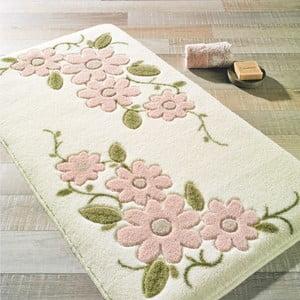 Biały dywanik łazienkowy Confetti Bathmats Margherita, 80x140cm