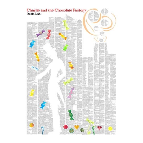 """Plakat """"Charlie i fabryka czekolady"""", 50x70 cm"""