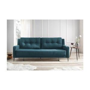 Niebieska sofa rozkładana Bobochic Bergen