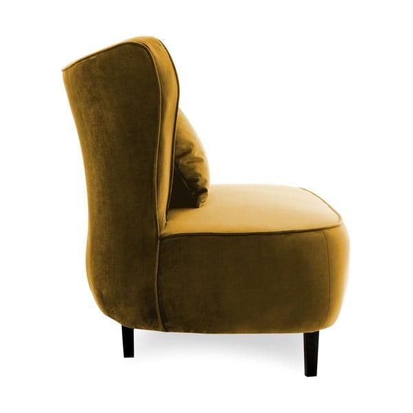 Musztardowy fotel Vivonita Douglas Love