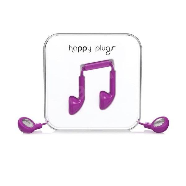 Słuchawki Happy Plugs, fioletowe
