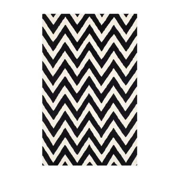 Dywan wełniany Stella Black, 182x274 cm