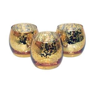 Zestaw 3 świeczników CIMC Metallic Tealight