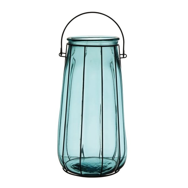 Lampion Ecoglass Blue, 37 cm