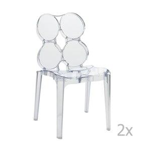 Zestaw 2 przeźroczystych krzeseł J-Line Circles