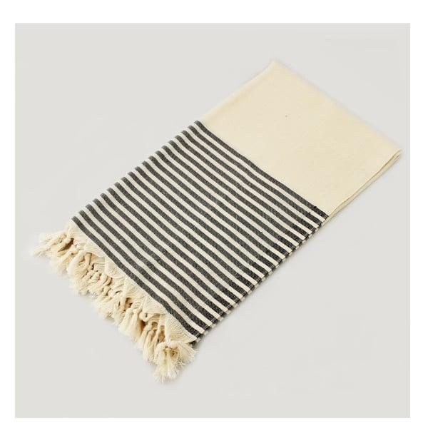 Ręcznik hammam Marine Style Black, 100x180 cm