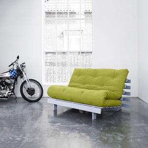 Sofa rozkładana Karup Roots Cool Gray/Pistacie