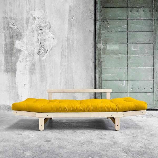 Sofa rozkładana Karup Beat Natural/Amarillo