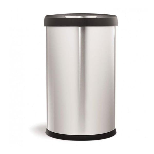 Bezdotykowy kosz na śmieci simplehuman 45 l, matowa stal