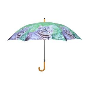 Zielony parasol z kotami Esschert Design
