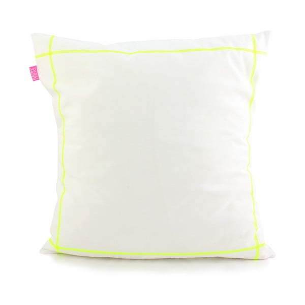 Poszewka na poduszkę Basic Fluor yellow, 50 x 50 cm