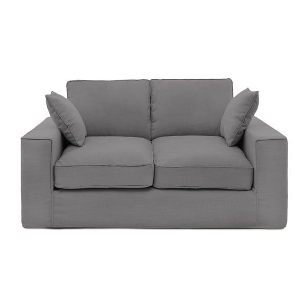 Szara sofa dwuosobowa Vivonita Jane