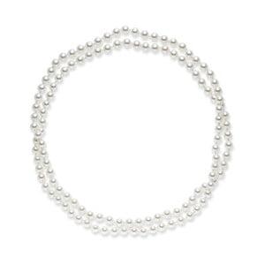Biały naszyjnik perłowy Pearls Of London, 120 cm
