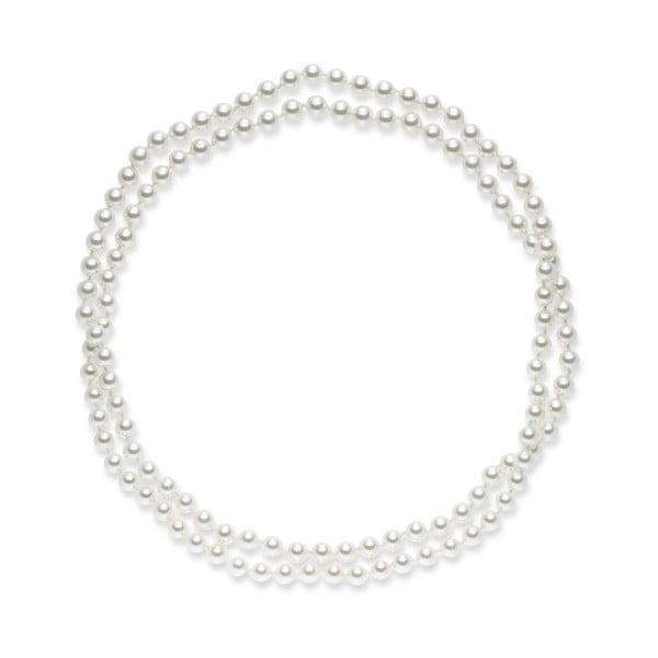 Biały perłowy naszyjnik Pearls Of London, 90 cm