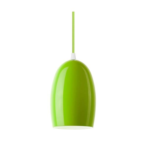 Zielona błyszcząca lampa wisząca Sotto Luce UME