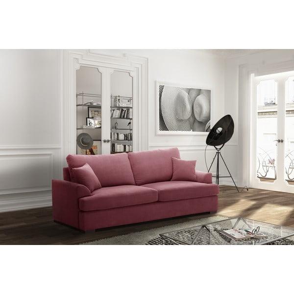 Sofa trzyosobowa Jalouse Maison Irina, różowa