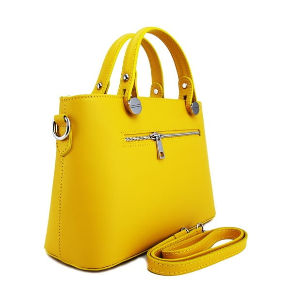 Skórzana torebka Adelaide Giallo