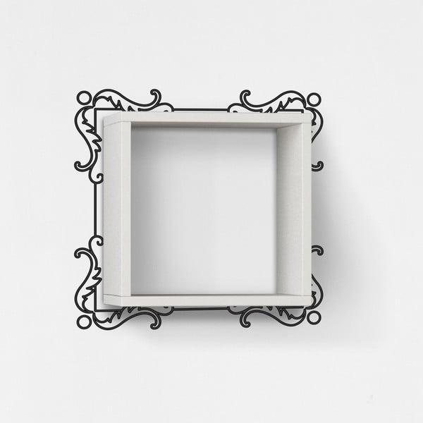 Półka z naklejką Frame White