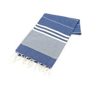 Niebieski ręcznik Hammam Hereke, 100x180cm