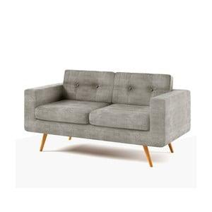 Sofa dwuosobowa York Ibiza, jasnoszara