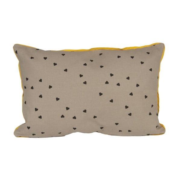 Confetti Hearts Grey, 50x30 cm