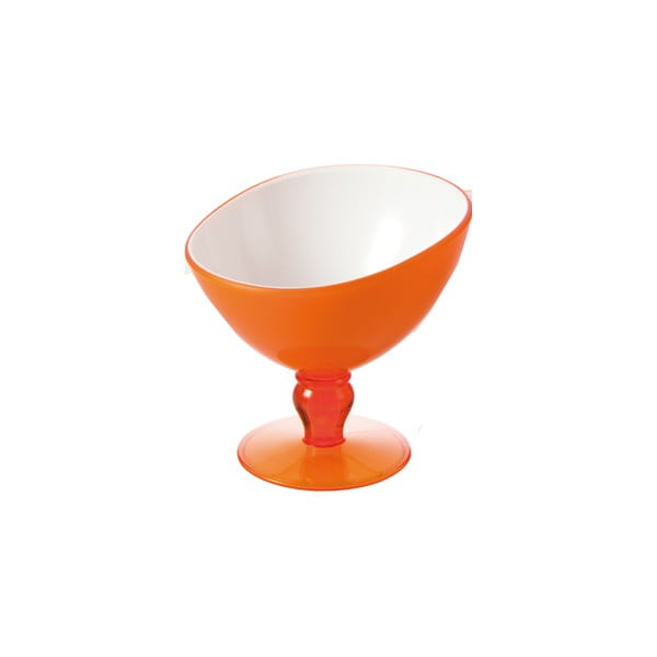 Pomarańczowy pucharek deserowy Vialli Design Livio, 180ml