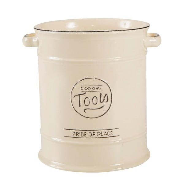 Kremowy pojemnik ceramiczny na przybory kuchenne T&G Woodware Pride Of Place