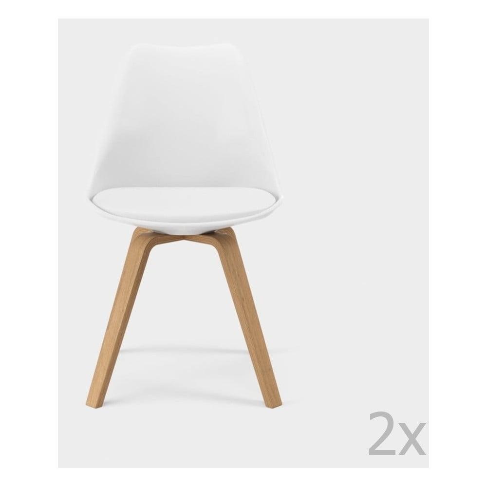 Zestaw 2 białych krzeseł Tenzo Gina