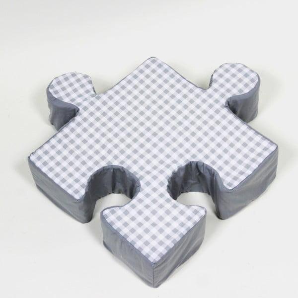 Szara poduszka Puzzle Grid