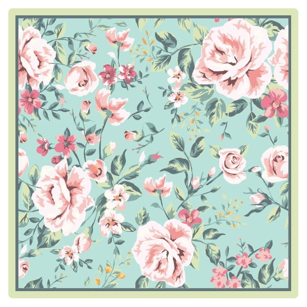 Zestaw 2 mat stołowych Roses, 20x20 cm