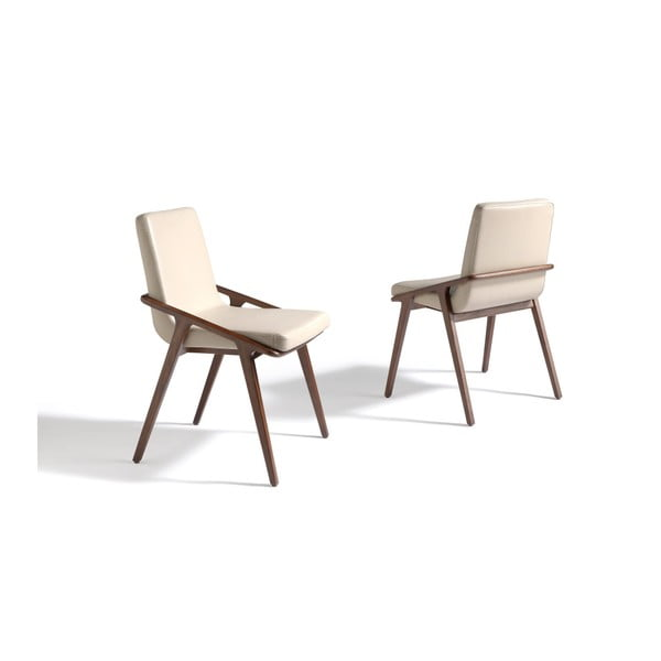 Kremowe krzesło Ángel Cerda Chario