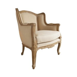 Beżowy fotel z drewna tekowego Orchidea Milano Vernier