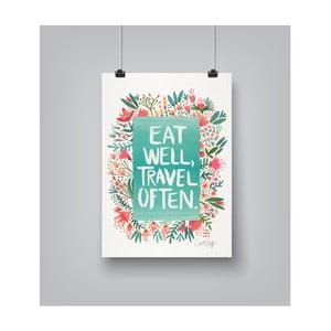 Plakat Americanflat Eat Well, 30x42 cm