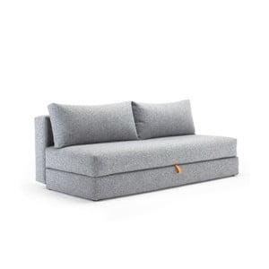 Szara sofa rozkładana ze schowkiem Innovation Osvald