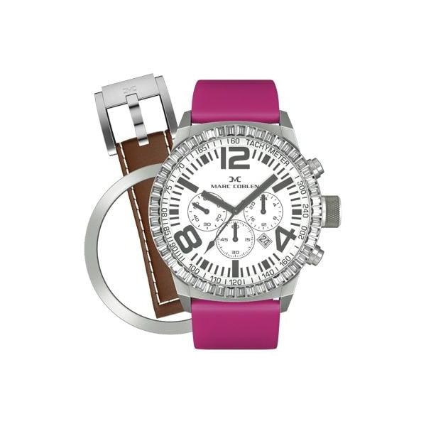 Zegarek damski Marc Coblen z dodatkowym paskiem i obręczą P7